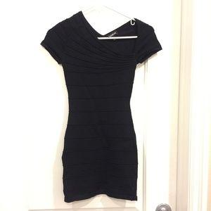 Bebe Off the Shoulder Black Dress Size XXS